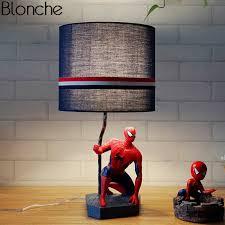 Modern Spider Man Table Lamps Bedroom Bedside Lamp Cartoon Led Stand Desk Light For Kids Children Room Fixtures Home Loft Decor Led Table Lamps Aliexpress