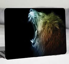 Modern Lion Laptop Sticker Tenstickers