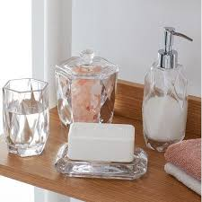 home bath accessories faceted glass