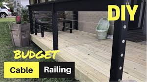 Cheap Easy Diy Cable Deck Railing Youtube