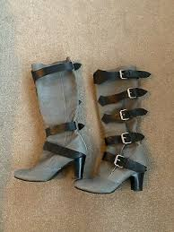 grey leather rare pirate boots uk