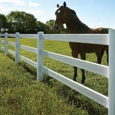 Certagrain 3 Rail Horse Fence White Avinylfence Com
