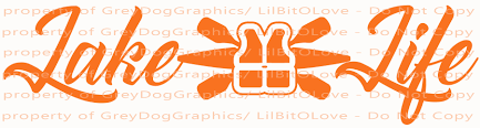 Lake Life Kayak Paddles And Life Vest Vinyl Lilbitolove