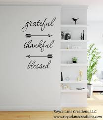 Grateful Thankful Blessed Wall Decal Dining Room Decor Etsy