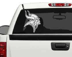 Minnesota Vikings Decal Sticker Vinyl Decal Window Sticker For Laptop Ipad Window Wall Car Truck Motorcycle By Yoonekgraphi Vikings Football Vinyl
