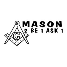 Mason 2b1ask1 Square Compass Masonic Vinyl Decal