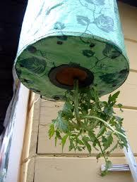 homemade topsy turvy garden planter