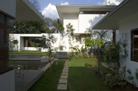 indian home design with garden home