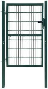 2d Metal Garden Fence Gate Yard Wire Mesh Single Door Green With Lock 106x170cm Amazon Co Uk Kitchen Home