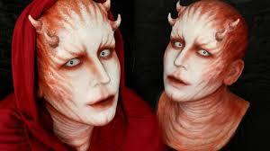 crimson demon makeup tutorial