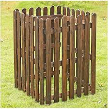 Amazon Com Zhanwei Garden Fence Wooden Animal Barrier Picket Fencing Decorative Partition Railing 3 Sizes Size 65x65x88cm Garden Outdoor