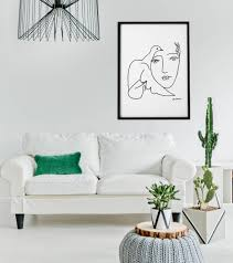 Picasso Style Black And White Set Of 3 Prints Home Aura