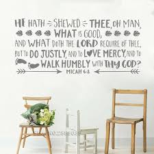 Vinyl Wall Decal Nursery Micah 6 8 Quote He Has Shewed Thee Oh Man Explorer Nursery Kids Room Arrows Bible Wall Sticker Lc757 Wall Stickers Aliexpress