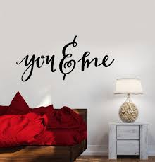 Vinyl Wall Decal You And Me Quote Words Bedroom Decor Stickers 2544ig Vinyl Wall Decals Vinyl Wall Wall Decals