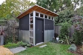 free standing modern lean to shed the