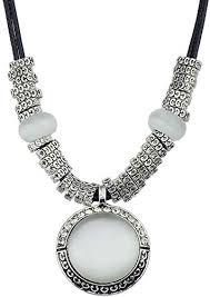 chain big stone pendant necklace