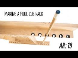 9 free diy pool cue rack plans you can