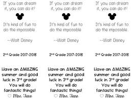 editable walt disney quote bookmark for the end of the year