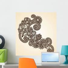 Hand Drawn Abstract Henna Mendie Wall Decal By Wallmonkeys Peel And Stick Graphic 24 In H X 23 In W Wm1361 Walmart Com