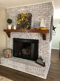 how to cover a brick fireplace with