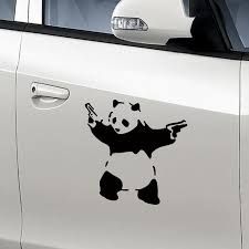 New Funny Car Sticker Fancy Panda With Gun Shape Decal Sticker Car Window Motorcycle Decal Sticker Car Sticker Funny Car Stickersfunny Car Aliexpress