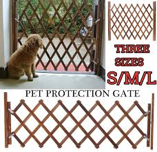 Wangxiaoxia Picket Garden Fence Pane Safety Protection Pet Dog Barrier Standing Door Folding Wood Garden Fence For Flower Beds Lawns And Paths Color Brown Size M Amazon Co Uk Kitchen Home