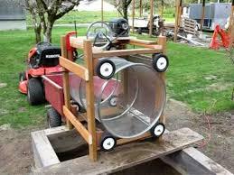 homemade rotary soil post screen