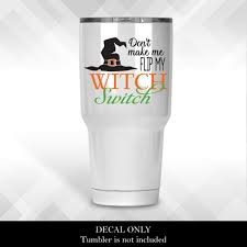Witch Switch Decal Halloween Diy Decals For Wine Glasses Plastic Cups And Tumblers