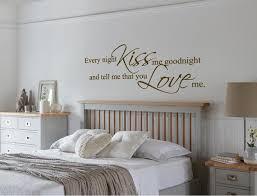 Every Night Kiss Me Goodnight Wall Sticker Kiss Me Goodnight Etsy