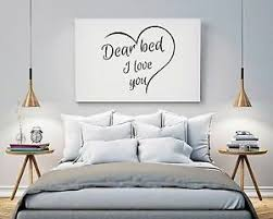 Dear Bed I Love You Wall Art Bedroom Home Quote Holiday Sticker Decal Ebay