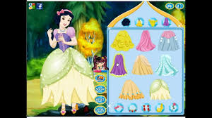 princess snow white dressup and makeup
