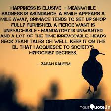 happiness is elusive m quotes writings by ✨zarah