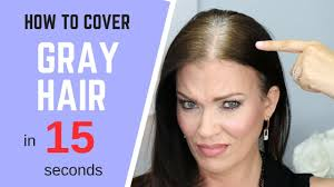 how to cover gray hair in seconds