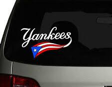 New York Yankees Car Decal Red Ebay