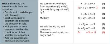 solve systems of equations with three