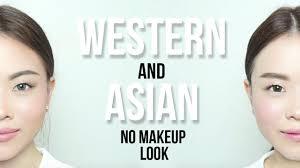 makeup no makeup look western vs asian