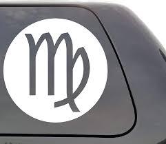 Amazon Com Virgo Zodiac Sign Vinyl Decal Astrology Symbol Horoscope Sign Wall Window Door Car Truck Home Kitchen