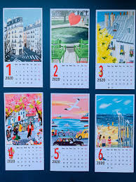2020 Desk Calendar Office Calendar 2020 Monday start calendar 2020 ...