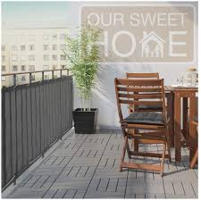 Amazon Com Balcony Deck Privacy Screen Cover Heavy Duty 210 Gsm Uv Weather Resistant High Visibility Reduction Includes Rope Black Cable Ties For Porch Patio Apartment Dark Gray Or