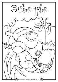 Caterpie Kleurplaten Gratis Printen Kleurplaat Pokemon