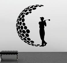 Boy Golfer Decal Golf Player Silhouette Boy S Room Interior Decor Sports Removable Wall Sticker Vinyl Poster 3gf Golf Art Golf Tattoo Golf Design