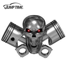 Jumptime 13cm X 8 8cm 3d Dead Skull Car Sticker Large Truck Trailer Motorcycle Graphics Decals Stickers Racing Car Stickers Aliexpress
