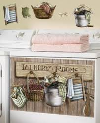 Old Fashioned Laundry Room Washer Magnet Magnetic Cover Wall Decal