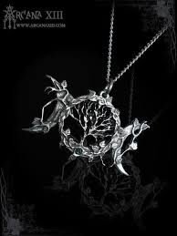 wicca triple moon necklace with tree of
