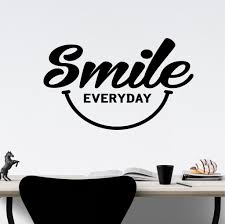 Motivational Office Wall Decal Smile Everyday Happy Face