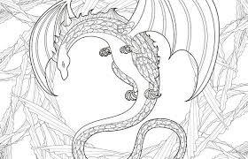 Mystery Dragon Coloring Page In Exquisite Style Zelfmaak Ideetjes