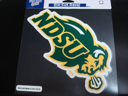 North Dakota State Bison Ndsu Colored Window Die Cut De