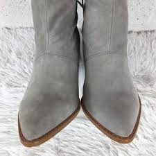 Sole Society Shoes | Solesociety So Adela Gray Suede Booties Sz 9m |  Poshmark