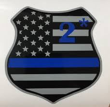 K9 Decal Police Decal Thin Blue Line 2 Asterisk Police Car Etsy