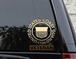 Amazon Com Us Coast Guard Veteran Decal Sticker Wall Window Laptop 9 Automotive